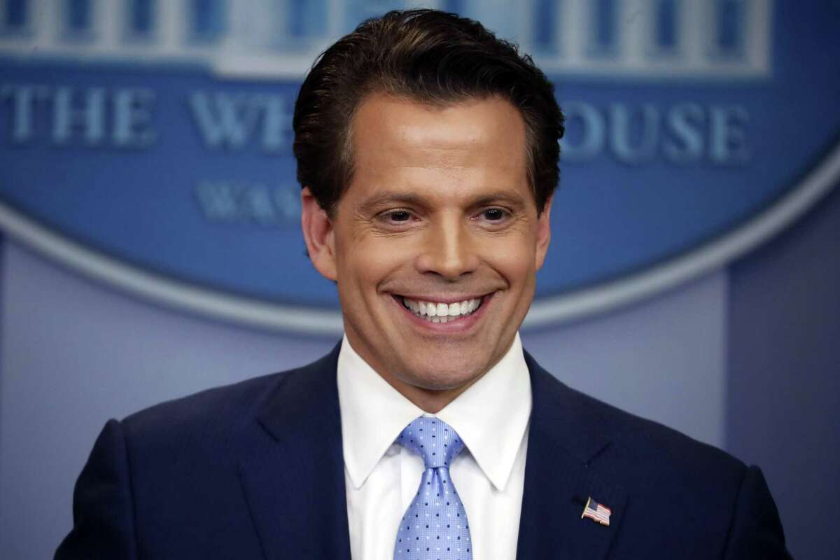 Former White House communications director Anthony Scaramucci speaks to members of the media in the Brady Press Briefing room of the White House in Washington, D.C., on July 21, 2017. .