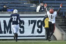 New Haven, Connecticut, November 10, 2018: Yale University Football vs. Princeton University at Yale Bowl Saturday in New Haven.