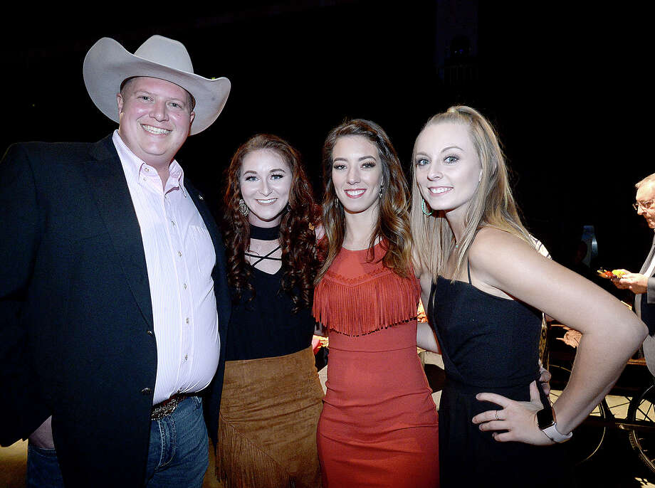 Kevin Norton, Breanna Whitten, Kate Weber and Summer Jackson were at the annual Southeast Texas Cattle Baron's Ball, held Saturday night at the Beaumont Civic Center. The theme of this year's event was Urban Cowboy and featured a star performance by Mickey Gilley and Johnny Lee. Proceeds from the event, which includes Texas dining, games, and silent auctions, benefit the American Cancer Society. Photo taken Saturday, November 10, 2018 Kim Brent/The Enterprise Photo: Kim Brent/The Enterprise