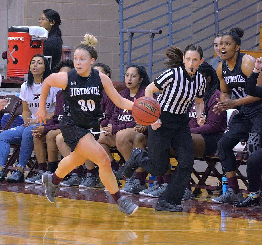 After the departures of their two senior captains, the Dustdevils' remaining leading scorer in Jaden Gonzales was lost for the year soon after in early December. She is one of two guards out for the season with a leg injury including Rose Altunbulak. Photo: Cuate Santos /Laredo Morning Times File / Laredo Morning Times