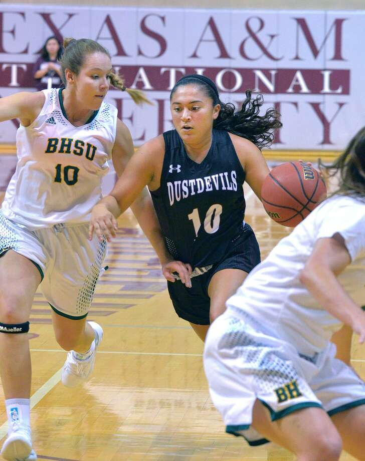 Marina Gatica finished with nine points in the Dustdevils' 81-48 exhibition loss at Division I Houston Baptist on Wednesday night. Photo: Cuate Santos /Laredo Morning Times File / Laredo Morning Times