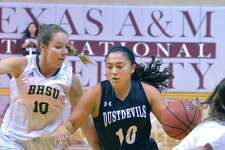 Marina Gatica finished with nine points in the Dustdevils' 81-48 exhibition loss at Division I Houston Baptist on Wednesday night.