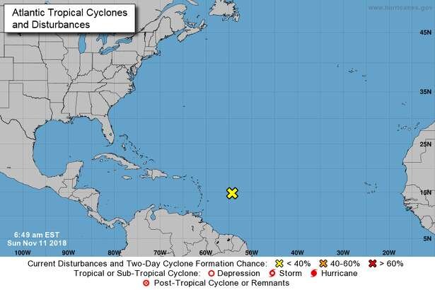 The tropical wave is located several hundred miles east of the Lesser Antilles and is gradually becoming better defined, forecasters say. The system is producing strong gusty winds, mainly to the east of the disturbance.