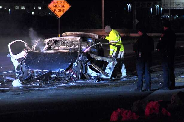 San Antonio police say two people died following a wreck Sunday morning, Nov., 11, 2018, on the far Northwest Side.