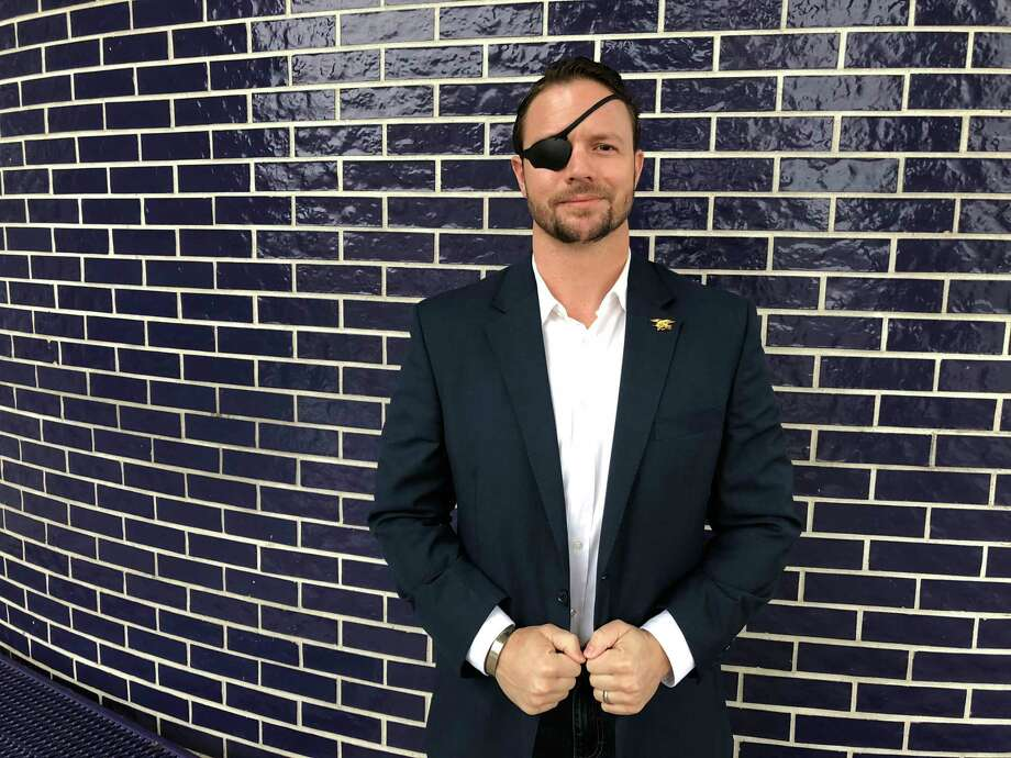 "Dan Crenshaw, a former Navy SEAL, was elected to Congress from the Houston area after running for office for the first time. ""He's just tenacious,"" said his predecessor, retiring Rep. Ted Poe, R. Photo: Washington Post Photo By Dan Zak / The Washington Post"
