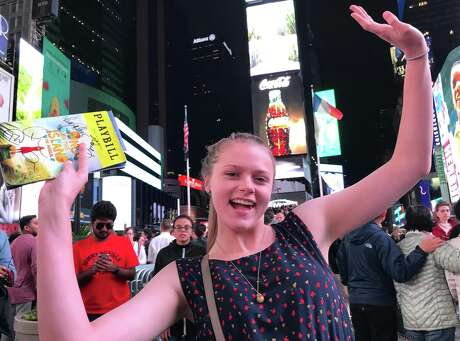 "Hitting up Broadway with my niece Julia last summer in NYC- we loved ""Once on this Island"" most Photo: Chris McGinnis"