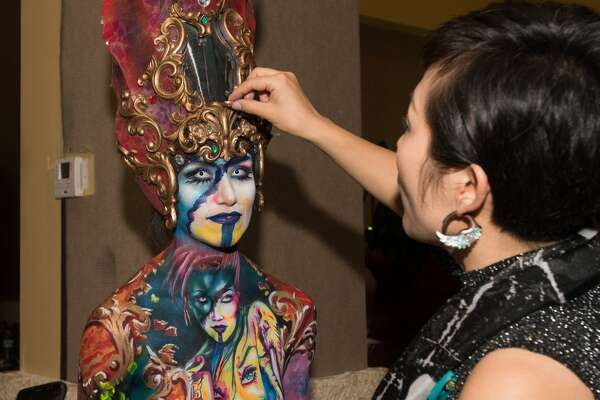 Competitors went beyond the canvas and brought color to their skin at the Texas Body Paint Competition at the Saturday at the Guadalupe Cultural Arts Center.