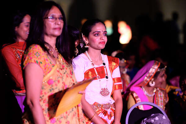 Event participants look on during the Diwali Cultural Night by the Hindu Association of West Texas Nov. 10, 2018, at Horseshoe Pavilion. James Durbin/Reporter-Telegram