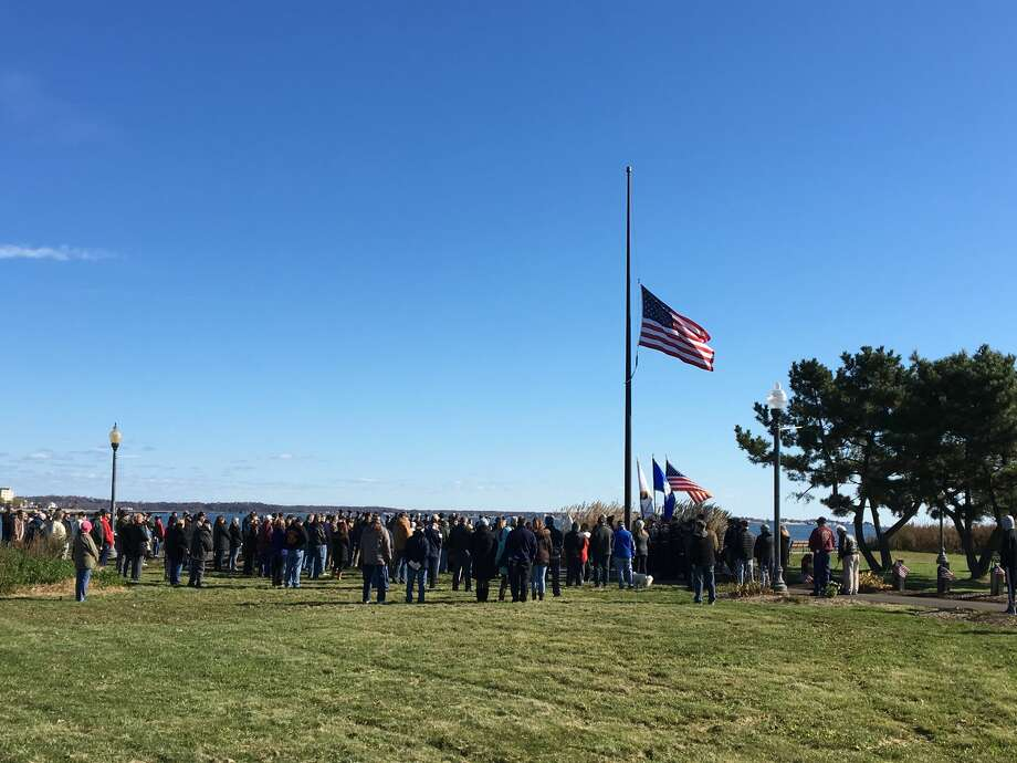 The city and the West Haven Veterans Council held a Veterans Day tribute on Sunday, Nov. 11 on the Veterans Walk of Honor in Bradley Point Park Photo: Mark Zaretsky