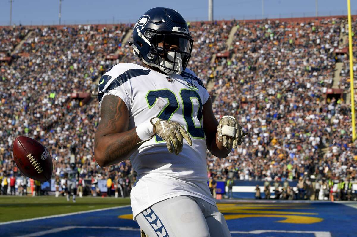 HIGHLIGHT OF THE DAY? COURTESY OF RASHAAD PENNY Carson had the game-clinching run, but Rashaad Penny got the 'oohs' and 'aahs' earlier in the game. On a 3rd and 2 late in the third period, Penny took a hand off from Wilson and made a helluva cut back to break to the outside and charged 37 yards - with Wilson as his lead blocker - for the touchdown. It was the highlight of a promising day for Penny, as the 2018 first-round pick led the Seahawks with 62 rushing yards on 10 carries. The big move by Penny, the recipient of criticism for his underwhelming rookie season, is the latest example why Seattle made him the 27th pick in last year's draft.