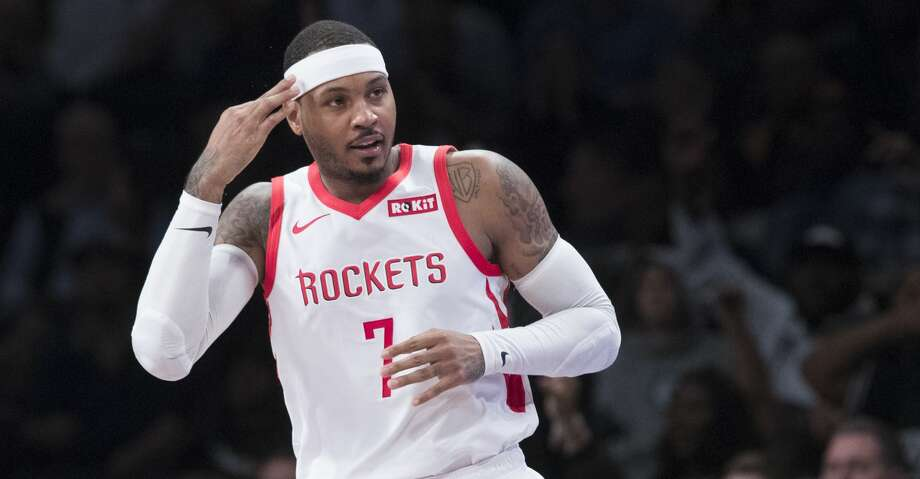 PHOTOS: Rockets game-by-game Houston Rockets forward Carmelo Anthony (7) reacts after scoring a three-point basket in the second half of an NBA basketball game against the Brooklyn Nets, Friday, Nov. 2, 2018, in New York. (AP Photo/Mary Altaffer) Browse through the photos to see how the Rockets have fared in each game this season. Photo: Mary Altaffer/Associated Press