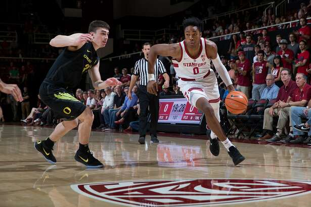 Stanford forward KZ Okpala is especially dangerous on drives to the basket.