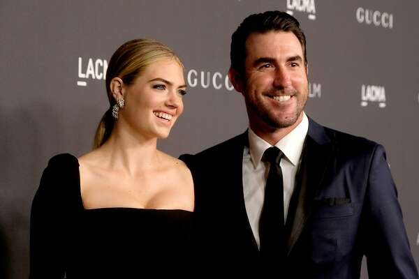 FILE - NOVEMBER 10: Model/actress Kate Upton and MLB player Justin Verlander welcomed their first child together, a baby girl, on November 7, 2018. LOS ANGELES, CA - OCTOBER 29: Model/actress Kate Upton (L) and MLB player Justin Verlander attend the 2016 LACMA Art + Film Gala honoring Robert Irwin and Kathryn Bigelow presented by Gucci at LACMA on October 29, 2016 in Los Angeles, California. (Photo by Frazer Harrison/Getty Images for LACMA)