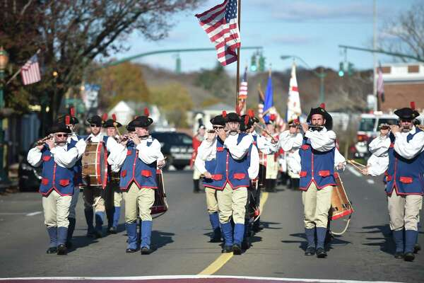 Branford, Connecticut, November 11, 2018: The Branford Veterans Day Ceremony and Veterans Day Parade Sunday afternoon in Branford.