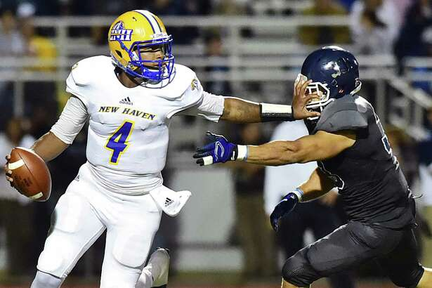 Quatrterback Ajee Patterson and the New Haven football team will face West Chester (Pa.) in the Division II tournament on Saturday.