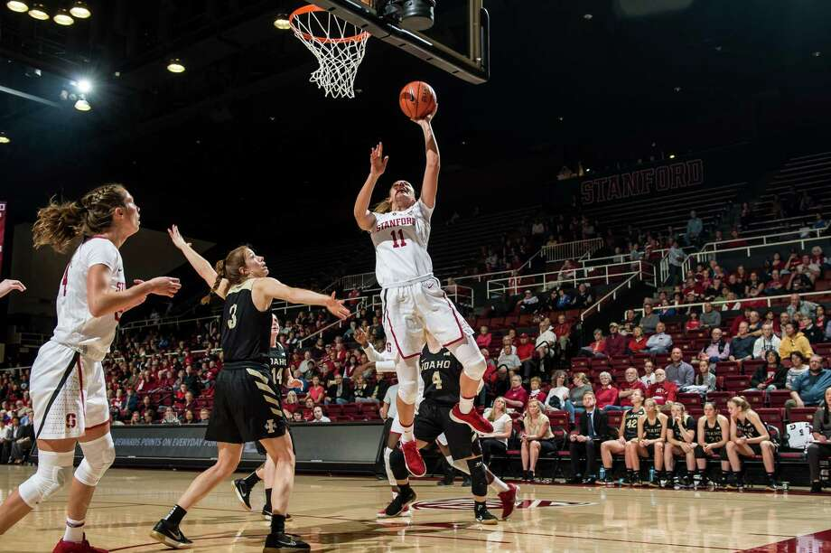Alanna Smith of Stanford Women's basketball goes in for a layup as Stanford takes on Idaho on Sunday, November 11, 2018 at Maples Pavilion in Stanford, California. Photo: Karen Hickey / Stanford Athletics