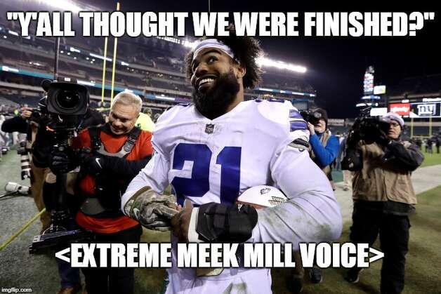 Dallas Cowboys Week 10: Cowboys 27, Eagles 20 Ezekiel Elliott rushed for 151 yards as the Cowboys got a key win in the NFC East. Photo: Matt Young