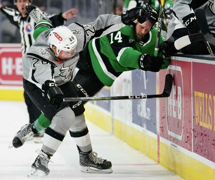 The Texas Stars play the San Antonio Rampage during the third period of an AHL hockey game, Sunday, Nov. 11, 2018, at the AT&T Center in San Antonio, Texas. Texas won 4-2. (Darren Abate/AHL)