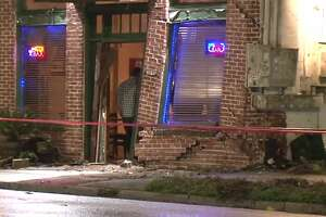 A woman crashed into a building in the 2200 block of Washington Avenue on Monday, Nov. 12, 2018.