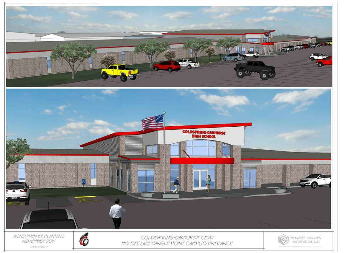 COCISD bond projects are moving forward, with Phase D set to start in January. This phase includes construction of the new single-point entry to the high school and CTE wing.