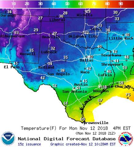 Texas Weather Map Forecast.Winter Storm Dumps Snow In Texas Western Oklahoma Midland