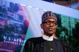 Muhammadu Buhari, Nigeria's president, speaks at a forum in New York.