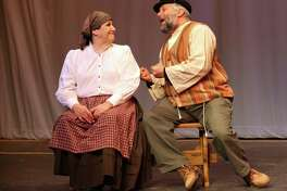 Jackie Downing and Marc Garofalo rehearse for Fiddler on the Roof at Center Stage Theatre in Shelton. Conn. on Sunday, Jan. 19. 2014. The performance starts on Jan. 31 - Feb 15.