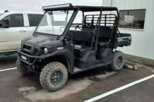 Midland authorities are searching for the suspect that stole a black 2015 Kawasaki Mule Pro F.X.T from a gas plant in northern Martin County on the evening of Oct. 26. The last four digits of the VIN are 1427.