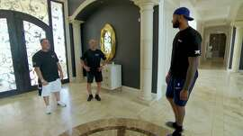 "DeMarcus Cousins shows off his Las Vegas mansion on an episode of Animal Planet's ""Tanked."""