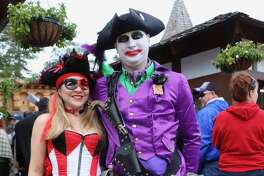 """Now in its second year, the Texas Renaissance Festival's Heroes & Villians weekend welcomes festival-goers to wear their best cosplay gear. This means that the likes of Captain America, Wonder Woman, and Jon Snow from """"Game of Thrones"""" end up rubbing shoulders with the usual cast of RenFest characters. This past weekend's brisk weather also did its part to make everyone a little more cozy."""