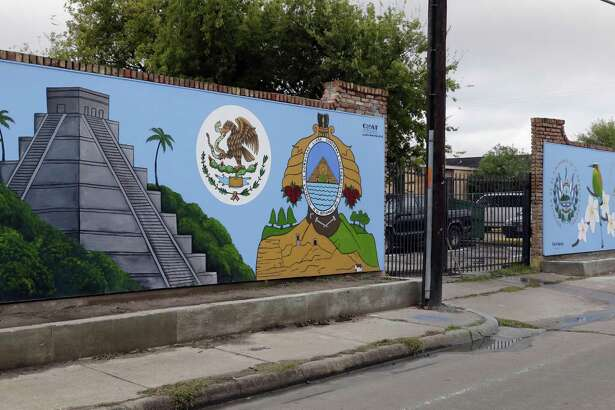 "The mural ""Instrospection of Self Reflection"" by artist Sylvia Blanco at 5833 Clarewood Dr., one of the 12 murals sponsored by CHAT on Thursday, Oct. 25, in various Gulfton neighborhoods Houston."