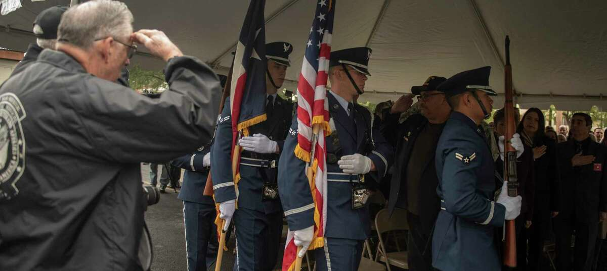 Bexar County and military officials and members of the public attended the 2018 grand opening of the county's new Military and Veterans Services Center near Fort Sam Houston. The center at 1422 E. Grayson Street will hold a