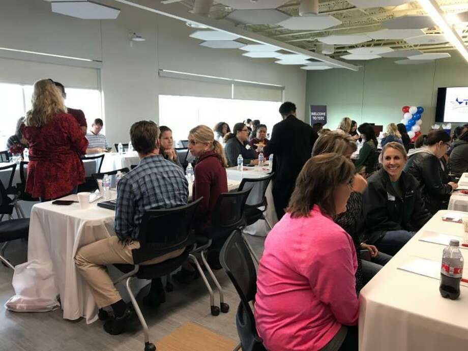 High school counselors from across Fort Bend County and the Houston area gathered at TSTC's Fort Bend County campus for the college's annual Counselor Update. Photo: Texas State Technical College