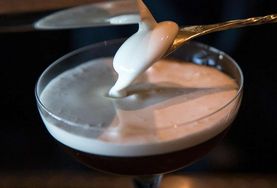 At Angler, the White Russian is made with cream infused with embers from the kitchen's hearth. Photo: Jessica Christian / The Chronicle
