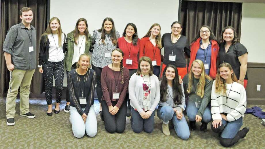 Westbrook High Teen Leadership/School Climate Students recently took part in the National Education Association New England Aspiring Educators' Conference at the Heritage Hotel in Southbury. Photo: Contributed Photo