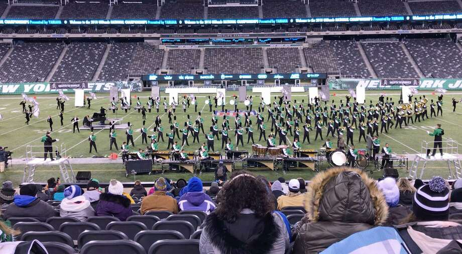 The Norwalk High School Marching Bears won first place at a national competition, Saturday, Nov. 11, 2018, at Met Life Stadium in East Rutherford, N.J. Photo: Contributed