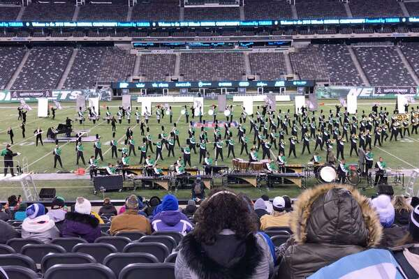 The Norwalk High School Marching Bears won first place at a national competition, Saturday, Nov. 11, 2018, at Met Life Stadium in East Rutherford, N.J.