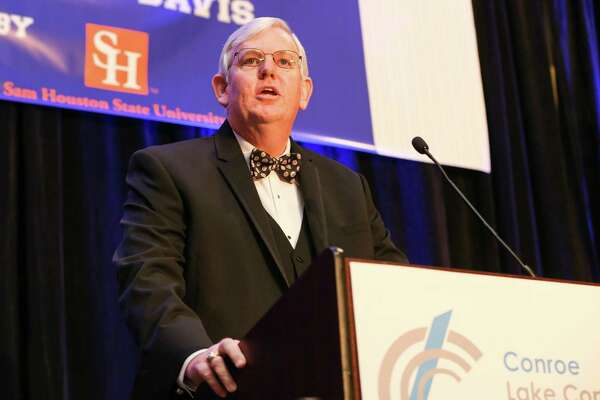 George Waggoner, incoming Chairman of the Conroe/Lake Conroe Chamber of Commerce, speaks during the Chairman's Awards Gala on Saturday, Jan. 27, 2018, at La Torretta Lake Resort and Spa.