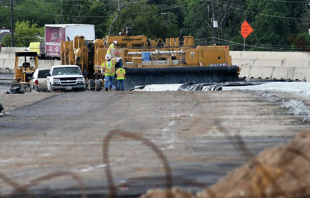 Construction continues on Highway 290 near the FM 1960 intersection on Sept. 13, 2018.