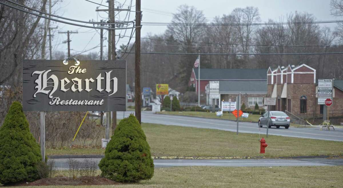 The Hearth Restaurant at the south end of the the Four Corners area of Brookfield. Sidewalks will be extended there in phase four. Tuesday, December 5, 2017, in Brookfield, Conn.