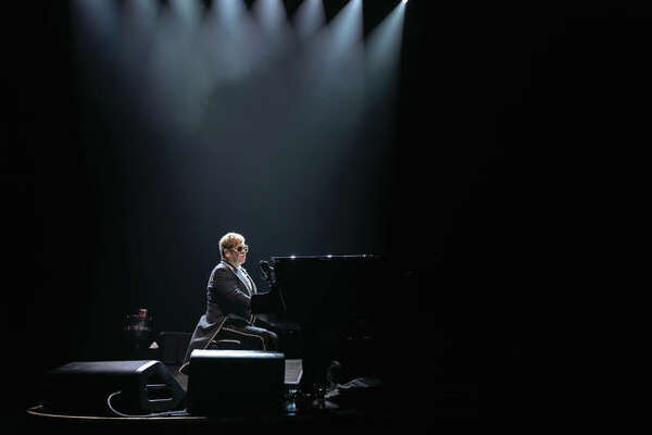 Elton John performs Oct. 30, at Enterprise Center, in St. Louis.