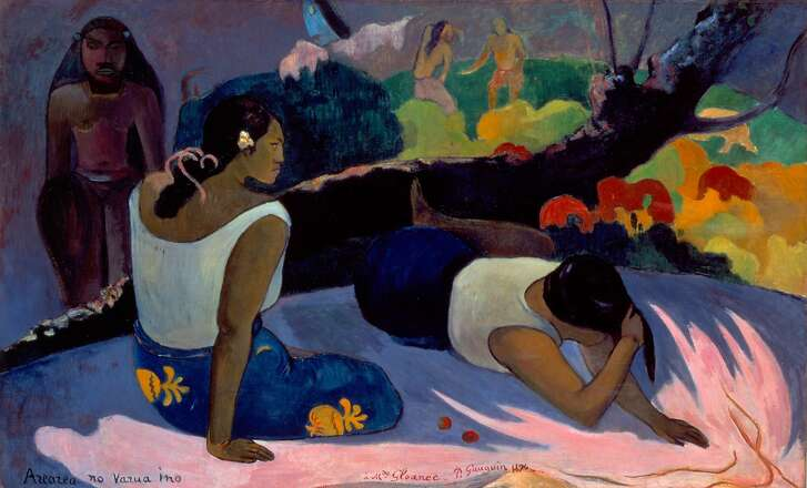 "Paul Gauguin, ""Reclining Tahitian Women"" (1894)"