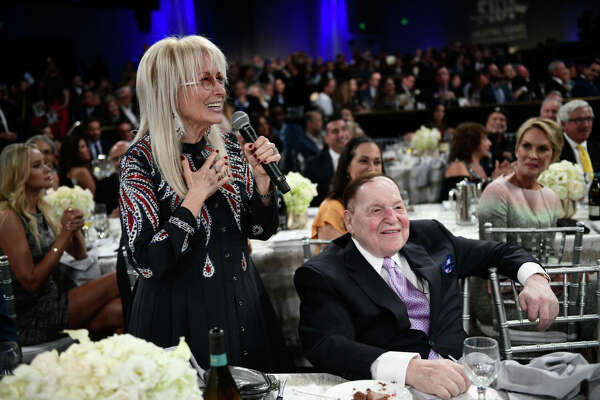 BEVERLY HILLS, CA - NOVEMBER 01: Dr. Miriam Adelson and Sheldon Adelson attend Friends of The Israel Defense Forces (FIDF) Western Region Gala at The Beverly Hilton Hotel on November 1, 2018 in Beverly Hills, California. (Photo by Shahar Azran/Getty Images)