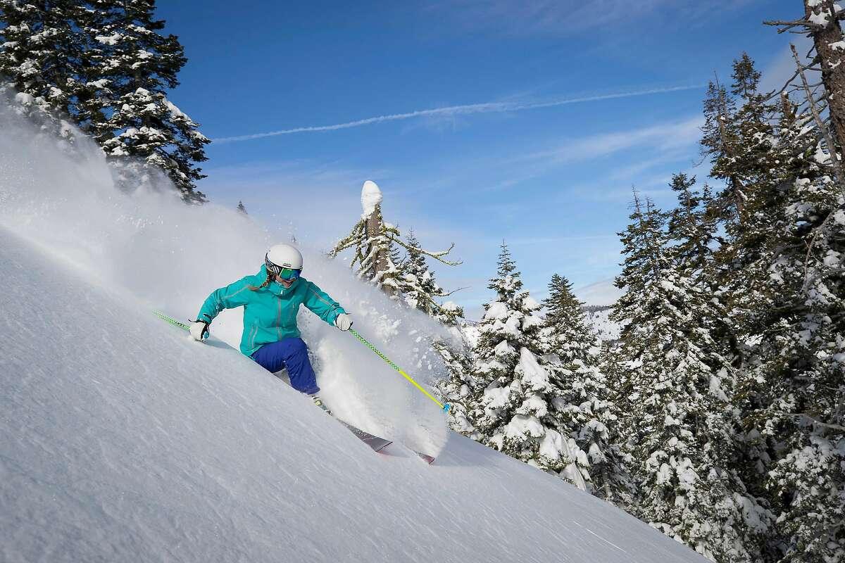 Winter scenery at Squaw Valley Ski Resort.