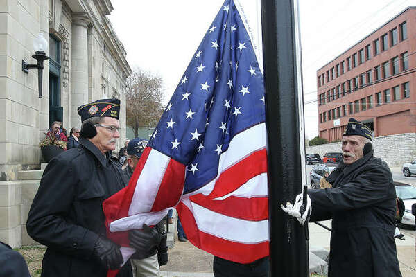 It's been about 52 years since a U.S. Flag has flown over what is now the Post Commons, but that was remedied Monday with the dedication of a restored flagpole at the former Alton Post Office.