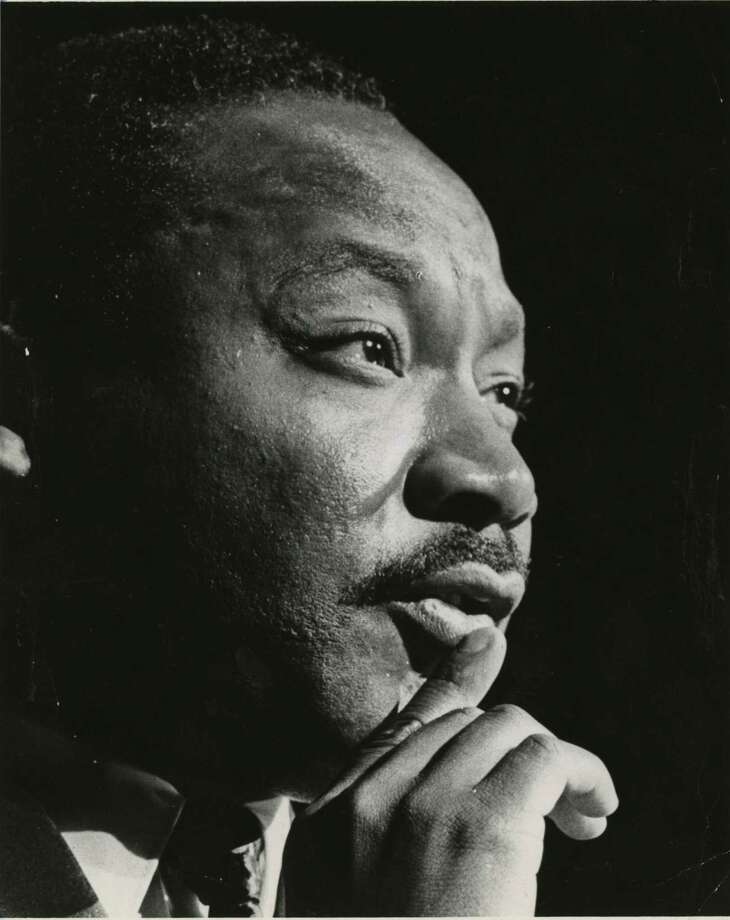 PHOTO FILED: MARTIN LUTHER KING JR. 10/17/1967 - Martin Luther King Jr. at the Sam Houston Coliseum, Oct 17, 1967 Blair Pittman / Houston Chronicle Photo: Blair Pittman / Houston Chronicle / Internal