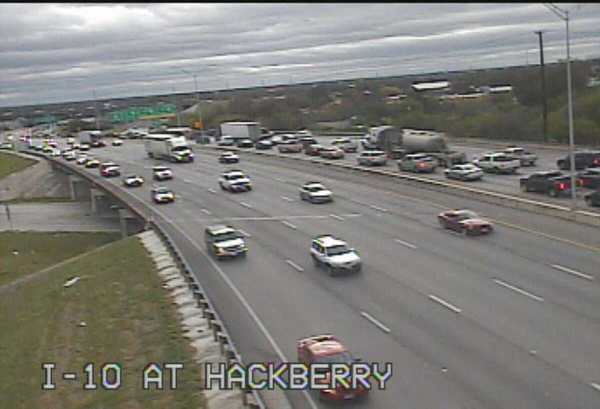 IH 10 at Hackberry A rollover near Interstate 10 and South Presa slowed down traffic Monday afternoon.