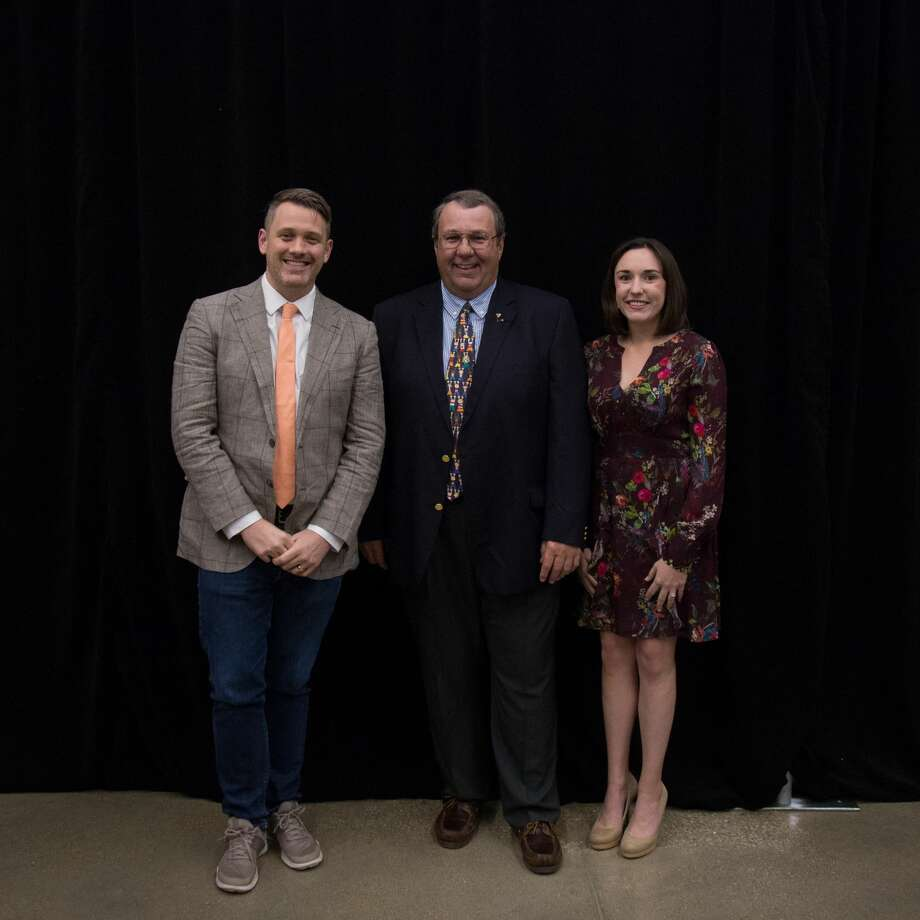 Three people with connections to Trinity School were honored Thursday for their community service and professional achievements. The third annual Trinity Alumni Hall of Honor recognized Michael Arden, Lauren Blackketter and Bill Fleischmann at an evening program. Photo: Courtesy Photo