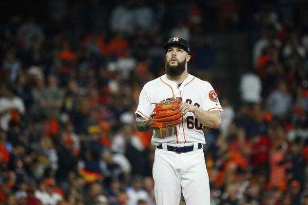 Lefthander Dallas Keuchel has a lifetime record of 76-63 and an ERA of 3.66, starting in 2012 with the Astros in the NL.