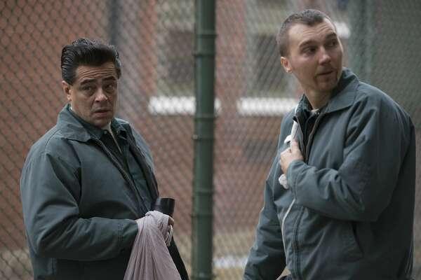 """Benicio Del Toro as Richard Matt and Paul Dano as David Sweat in """"Escape at Dannemora."""""""